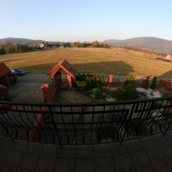 Późnojesienny widok z balkonu