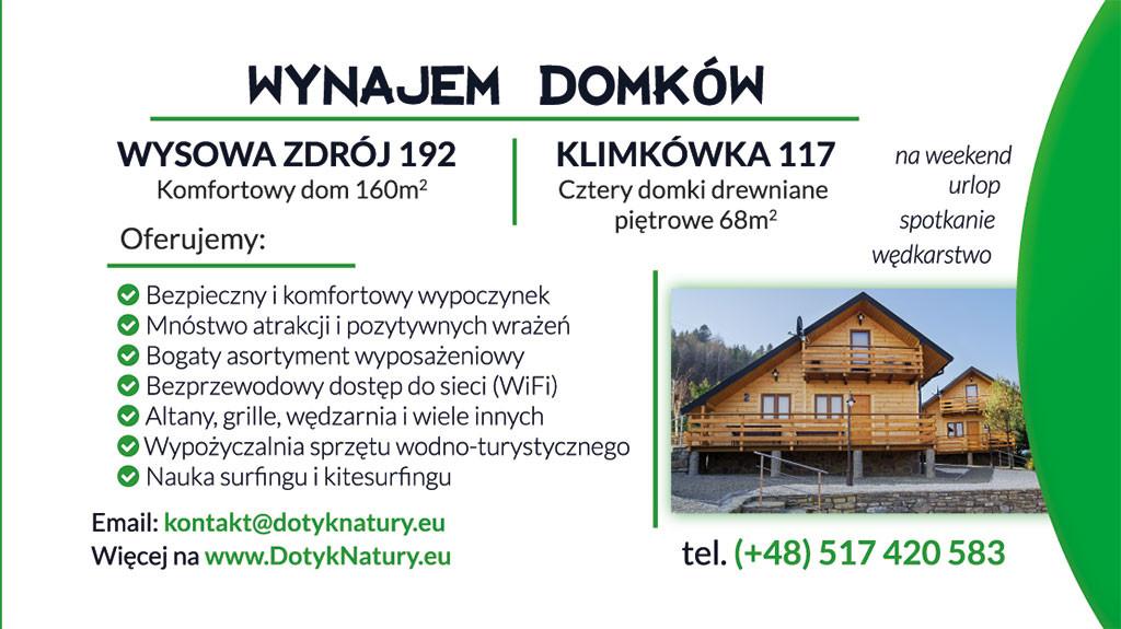 Domki Klimkówka naWeekend Majowy
